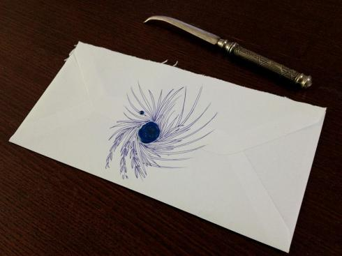 Envelope with Hand Drawn embellishments