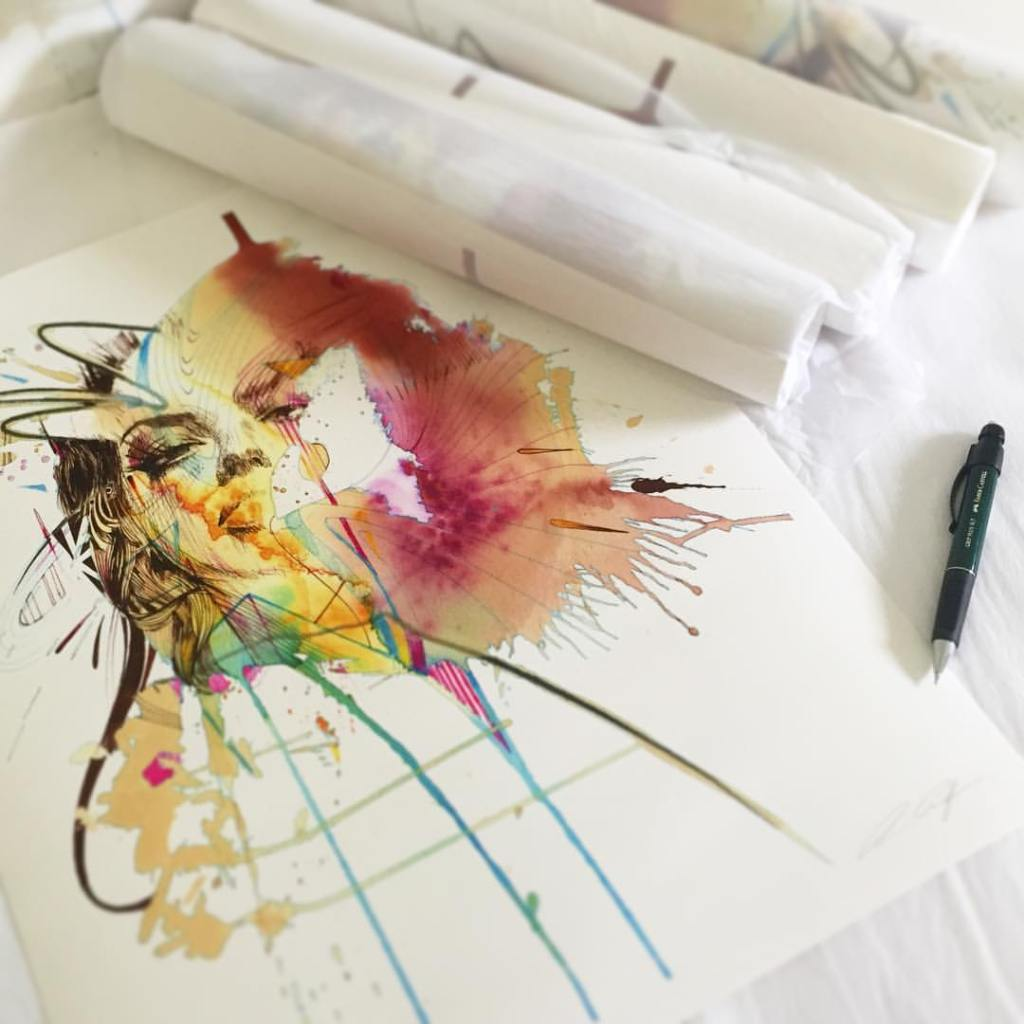 Neon Tears by Carne Griffiths